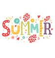 lettering Summer vector image
