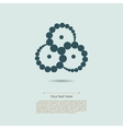 Some swirled circles symbol isolated on light blue vector image