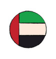 united arab emirates round icon flag vector image