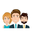 character men and woman staff employee human vector image
