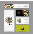 Set of business cards design shopping tree with vector image vector image