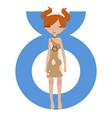 taurus zodiac symbol vector image vector image