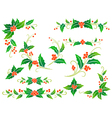Christmas holly decoration vector image vector image