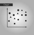 black and white style icon chart with geometric vector image