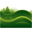 Green environment background vector image