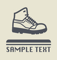 Hiking shoe icon vector image