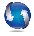 ico ball arrows vector image
