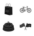 racetrack shopping and or web icon in black style vector image