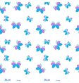 Seamless pattern with purple and blue butterflies vector image