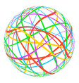 sphere with colored lines stripes around the orbit vector image
