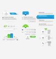 Website template infographic design menu vector image