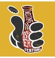 Welcome to the beer festival Poster vector image