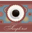 coffee invitation background vector image vector image