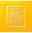 Hello Summer drawn yellow card vector image