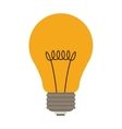 silhouette with yellow incandescent bulb vector image