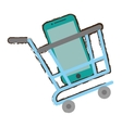 shopping cart online green mobile phone screen vector image