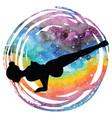 Women silhouette flying pigeon yoga pose eka vector image