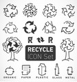 recycle icons and elements vector image