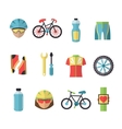 Bicycle Sports Icons Set vector image vector image