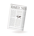 newspaper daily vector image vector image