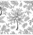 seamless tree pattern 012 grunge vector image