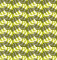 Retro fold striped hexagons turned vector image