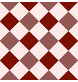 Crimson Red Fiesta White Diamond Chessboard vector image