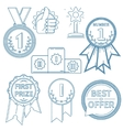 lineart awards set vector image