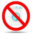 Ban wash machine vector image