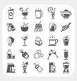 Beverage icons set vector image
