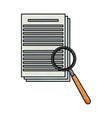 drawing document paper magnifier search data vector image