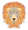 lion on white background vector image