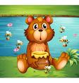 Cartoon Honey Bear vector image
