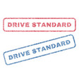 drive standard textile stamps vector image