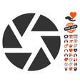 shutter icon with valentine bonus vector image