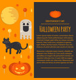 halloween concept letterhead template vector image