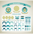 facemaker pack set vector image vector image