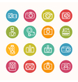 Camera icons set Circle Series vector image