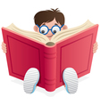 Reading kid vector image