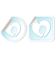 stickers label tag set with woman and man head vector image