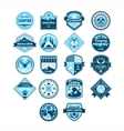 Camping and Outdoor Adventure Vintage Emblems vector image