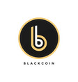 crypto curreny black golden bitcoin modern logo vector image