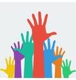 hands up career symbol vector image