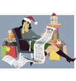 Holiday Shopping vector image