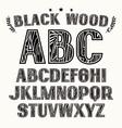 Sans serif uppercase font with contour vector image