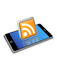 Smart phone rss vector image