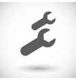 Wrench single flat icon vector image