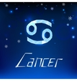 01 Cancer horoscope sign vector image
