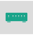 Ethernet switch icon vector image