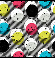 pop-art style seamless print yellow cyan blue vector image vector image
